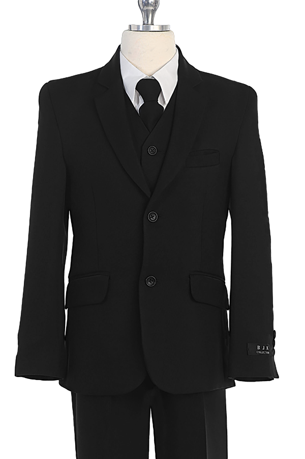 boys black suit 5 pieces set